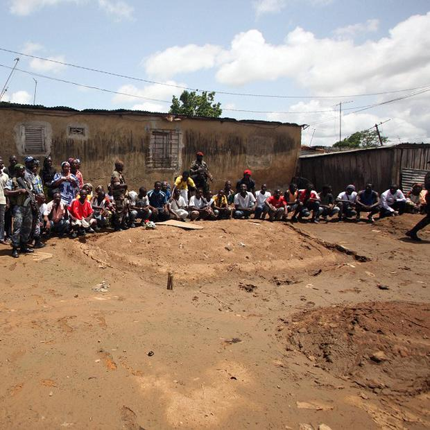 The site of an alleged mass grave in the Yopougon district, Ivory Coast (AP)