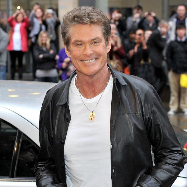 David Hasselhoff complimented the violinist on her string section