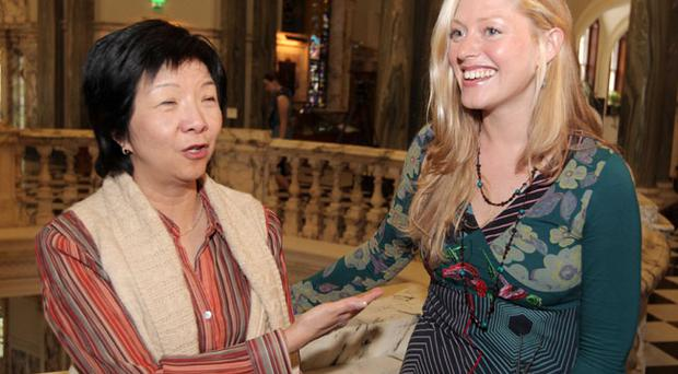 The Alliance Party's Anna Lo (left) and newly elected Catherine Curran pictured at Belfast City Hall