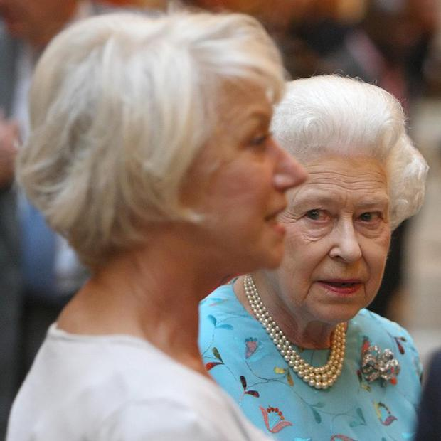 The Queen meets Dame Helen Mirren at a Palace event celebrating Britain's young talent