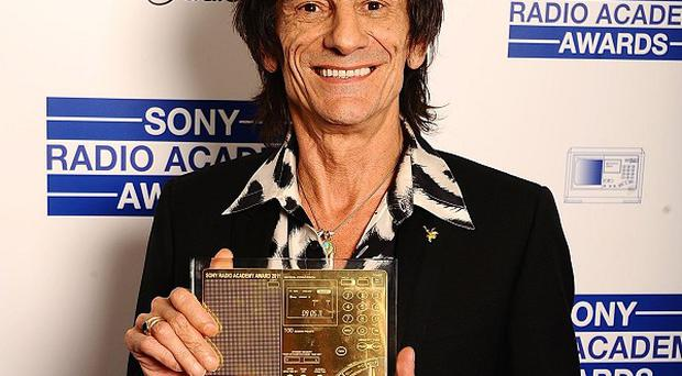 Ronnie Wood was named Music Radio Personality Of The Year at the Sony Radio Academy Awards