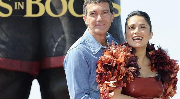 Antonio Banderas and Salma Hayek talked about Puss In Boots at Cannes