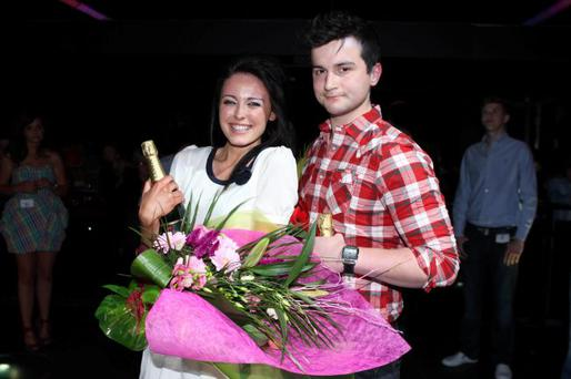 Natasha Smyth and Luke McKinley winners of the 'Face Of M Club 2011'