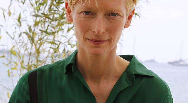 Tilda Swinton had to film during the Tomatina festival in Spain