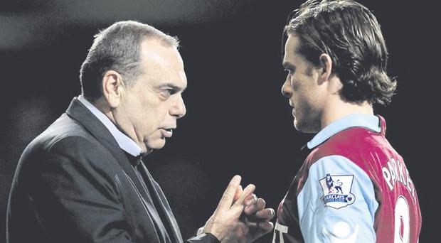 Moving on: Avram Grant has already departed West Ham, and Scott Parker will surely follow in the summer