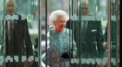 The Queen Elizabeth II arrives at the Convention Centre Dublin for an evening of British and Irish music and fashion