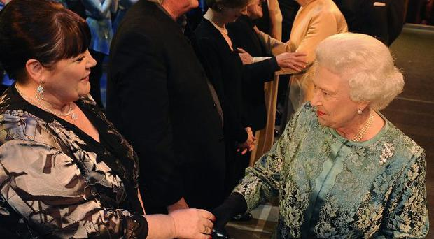 The Queen meets singer Mary Byrne