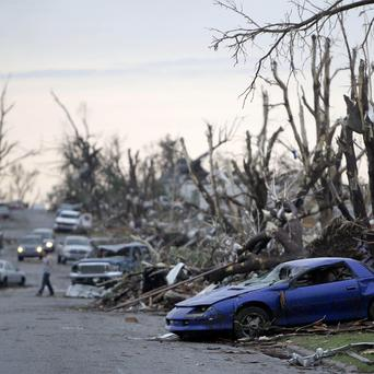 The damage in Joplin after a large tornado moved through much of the city (AP)