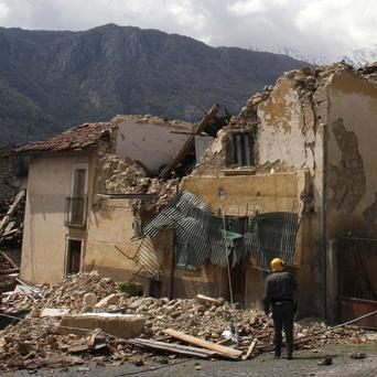 Part of the devastation near L'Aquila caused by the 2009 earthquake(AP)
