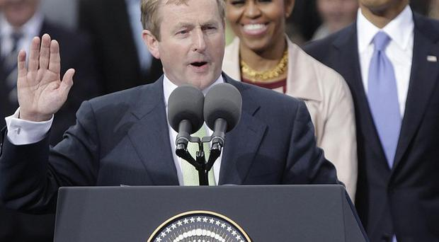 The Government has denied Enda Kenny plagiarised elements of Barack Obama's victory speech as he introduced the US president in Dublin