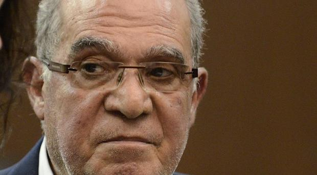 Mahmoud Abdel-Salam Omar appears in a Manhattan criminal court (AP)