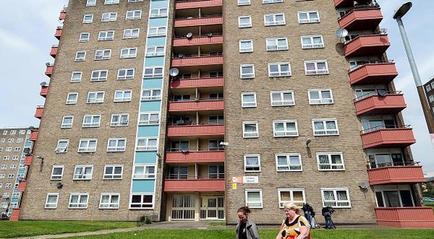 Lindsey Mount flats in Leeds, where six-year-old Liam Shackleton fell to his death