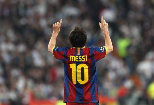 Lionel Messi of Barcelona