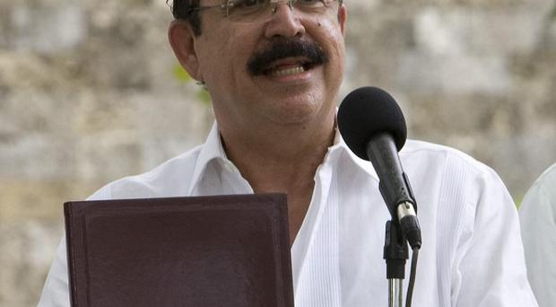 An accord last month allowed the return to Honduras of ousted leader Manuel Zelaya (AP)