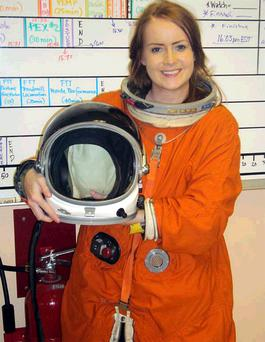 Queen's University medical student Therese White at the Kennedy Space Centre in Florida
