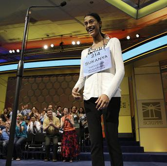 Sukanya Roy, 14, won the 84th Scripps US National Spelling Bee (AP)