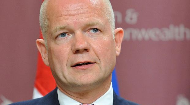 Foreign Secretary William Hague has paid a visit to rebel forces in Libya