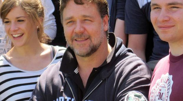 Russell Crowe jetted in from LA to give students the acting class