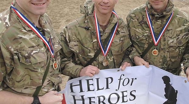 Armed Forces charity Help for Heroes is set to reach 100 million pounds in public donations