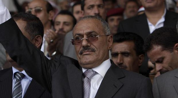Yemeni President Ali Abdullah Saleh accepted an offer from the Saudi king to get medical treatment there for wounds (AP)