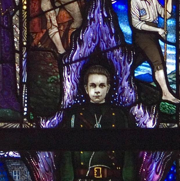 The Kevin Barry memorial window has been given a new home at University College Dublin (UCD/PA)