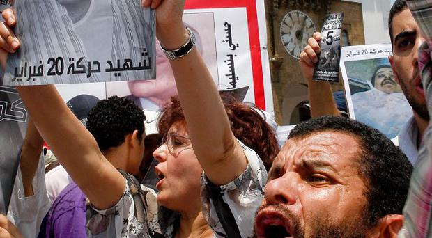 Protesters marched in Morocco's capital Rabat (AP)