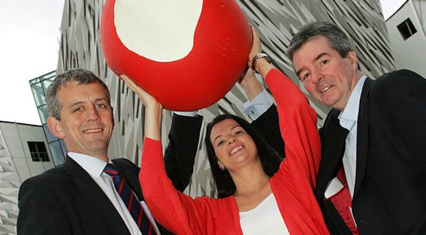 From left: Eamonn Donaghy, tax partner for KPMG and Michael Graham, director of corporate real estate at Titanic Quarter and Orlaith Adams.