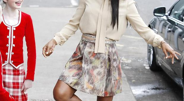 Kelly Rowland tried her hand at the Highland Fling in Glasgow