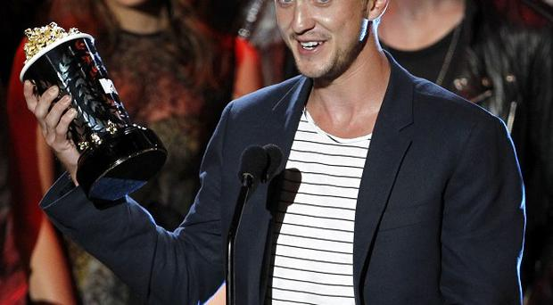 Tom Felton picked up the MTV award for best villain