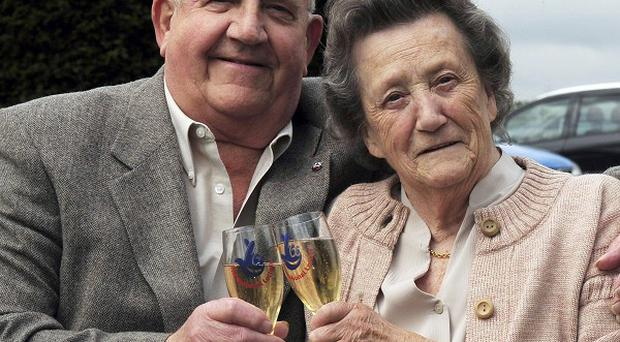 Lottery winner Helen Walker with husband Stan