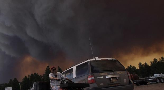 Wildfires have forced evacuations in Arizona (AP)