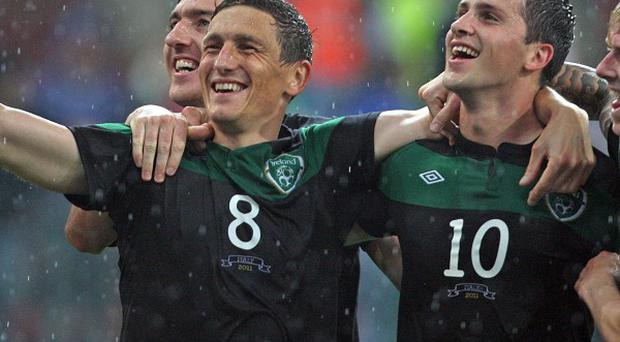 Keith Andrews (second left)