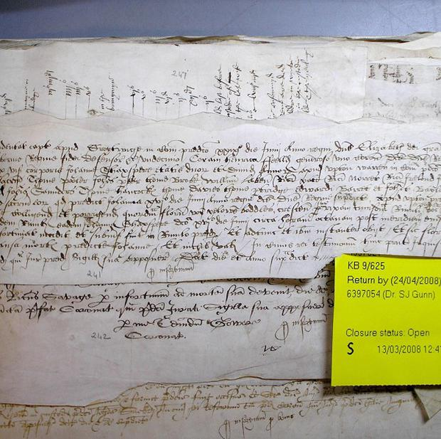 A coroner's report on the death of Jane Shaxspere in 1569, when William Shakespeare would have been aged about five