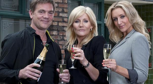 John Michie, Michelle Collins and Catherine Tyldesley are Corrie's new family