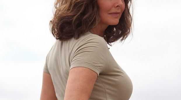Carol Vorderman joked that some people would like to see the back of her