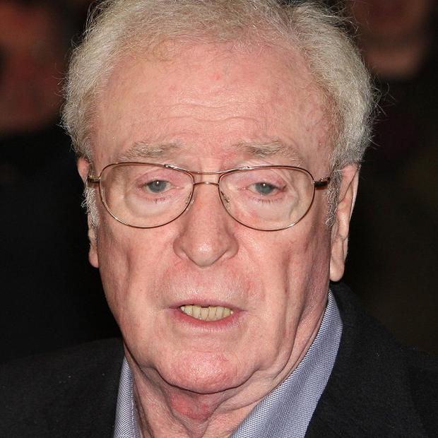 Sir Michael Caine left racing ace Lewis Hamilton starstruck