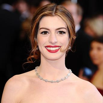 Anne Hathaway is currently filming on location in London