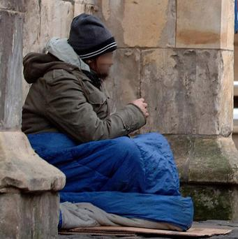 Charities are blaming financial pressures caused by the recession on a rise in homelessness