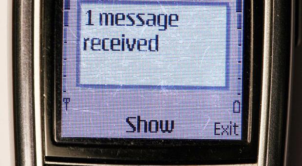 A senior police officer has been suspended amid allegations that he sent an offensive text message