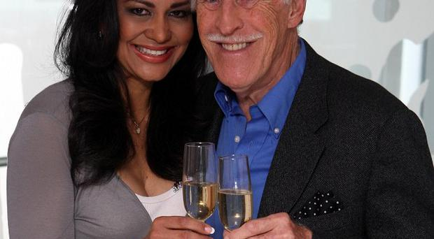 Sir Bruce Forsyth with his wife Wilnelia after he received a Knighthood in the Queen's Birthday Honours list