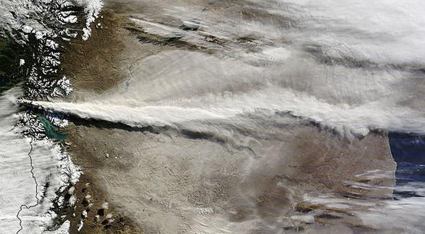 A satellite image from Nasa of the Puyehue-Cordon Caulle eruption in Chile (AP)