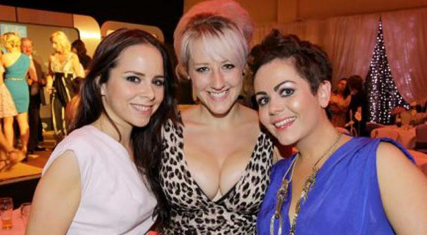 Spirit of Northern Ireland Awards at the Ramada Hotel, Belfastt : Tara O'Dornan, Merily McGivern and Kaz Lynas