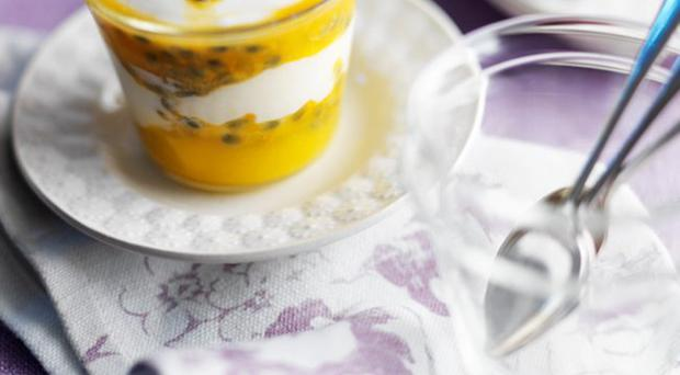 Mango and Passion fruit Fool