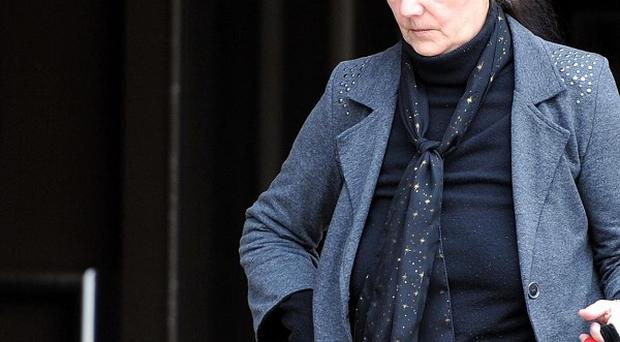 Olive Hazel Maddock known as Hazel Maddock leaving Liverpool Crown court where she admitted unlawful prevention of burial