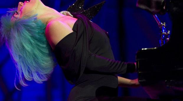 Lady Gaga performs during the Europride gay rights march at Rome's Circus Maximus (AP)
