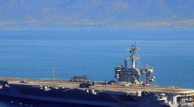 Aircraft carrier USS Carl Vinson is returning to the US (AP)