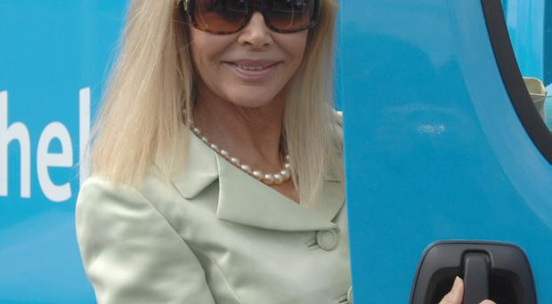 Britt Ekland launches the UK's first Dementia Community Roadshow at Tesco Knocknagoney