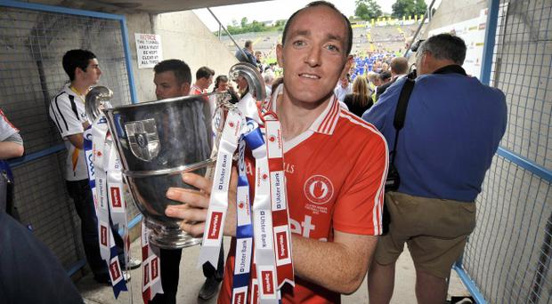 Brian Dooher is hoping to lead Tyrone to a third successive Ulster championship title this year at St Tiernach's Park, Clones