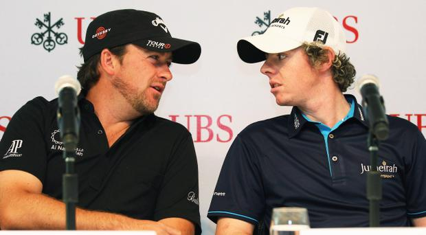 Graeme McDowell (left) and Rory McIlroy both have points to prove when the US Open tees off today