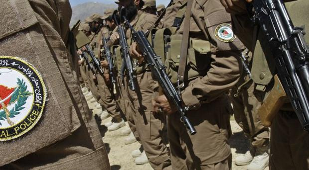Afghan police officers were among those killed in a suicide attack in a north-eastern province